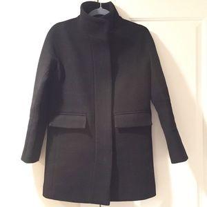 EUC J.Crew Black Cocoon Stadium Cloth Coat size 0